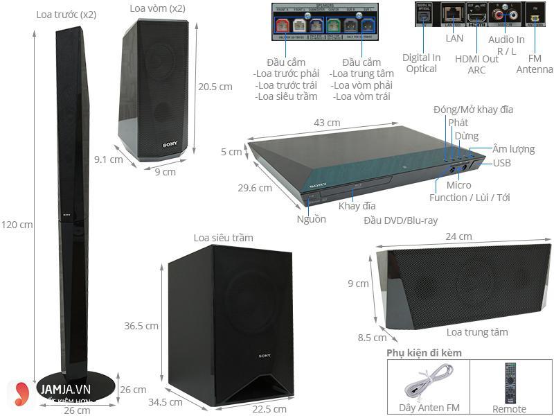 Dàn âm thanh Sony BDV-E4100 ảnh1