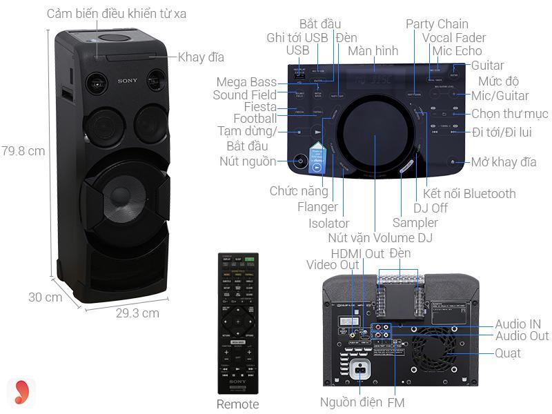 Dàn âm thanh Sony MHC-V11 ảnh1