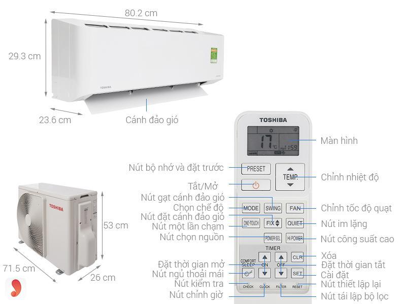 Điều hòa Toshiba RAS-H10PKCVG-V ảnh1