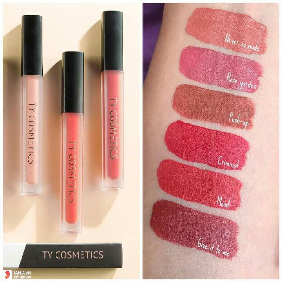 Độ lên màu của sonTy Cosmetics Matte Lip Cream