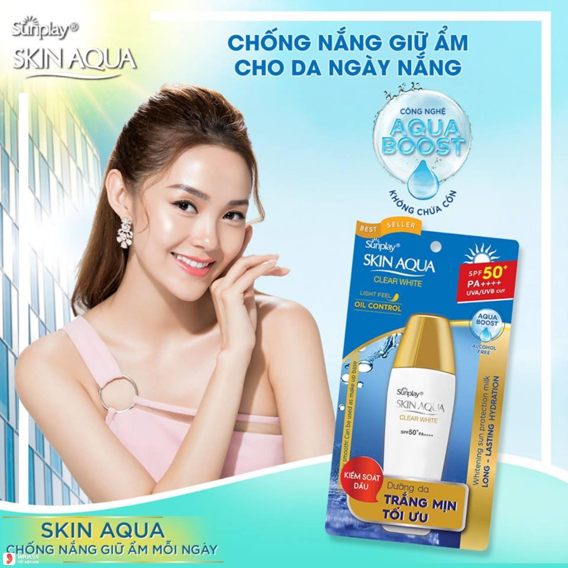 Kem chống nắng Skin Aqua Clear White 1