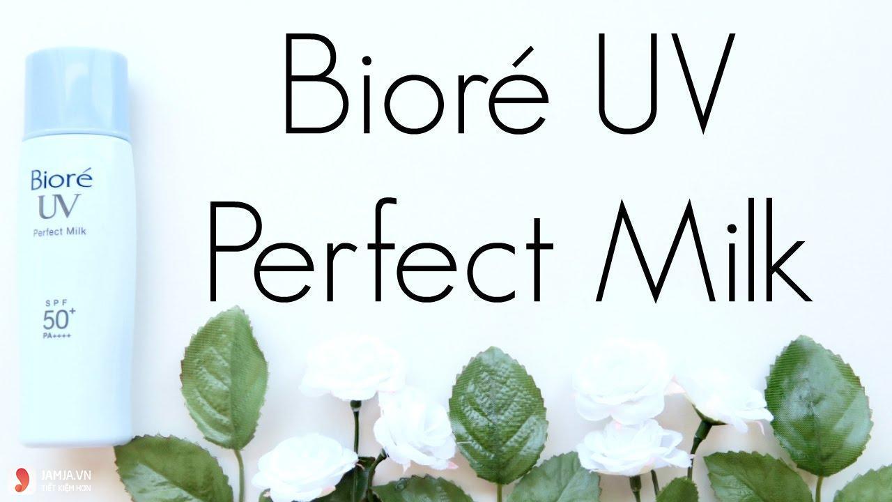 Biore UV Perfect Milk SPF 50+ PA+++ 4