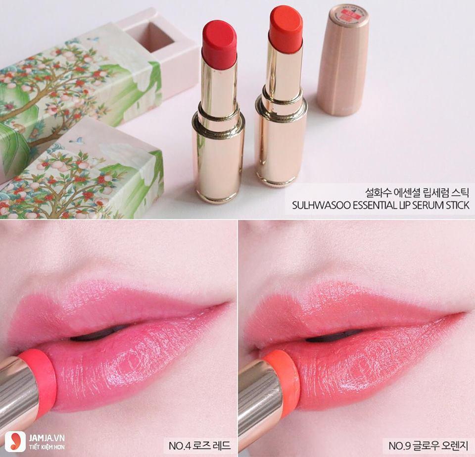 Khả năng bám màu của sonSulwhasoo Essential Lip Serum Stick 1