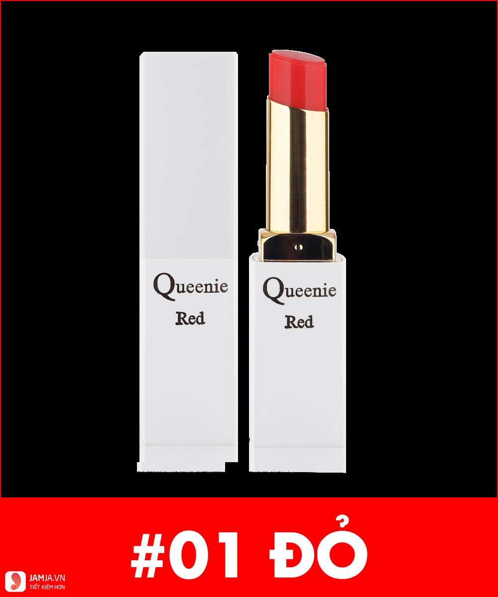 Queenie Glamour Matte Stick LipTint màu đỏ