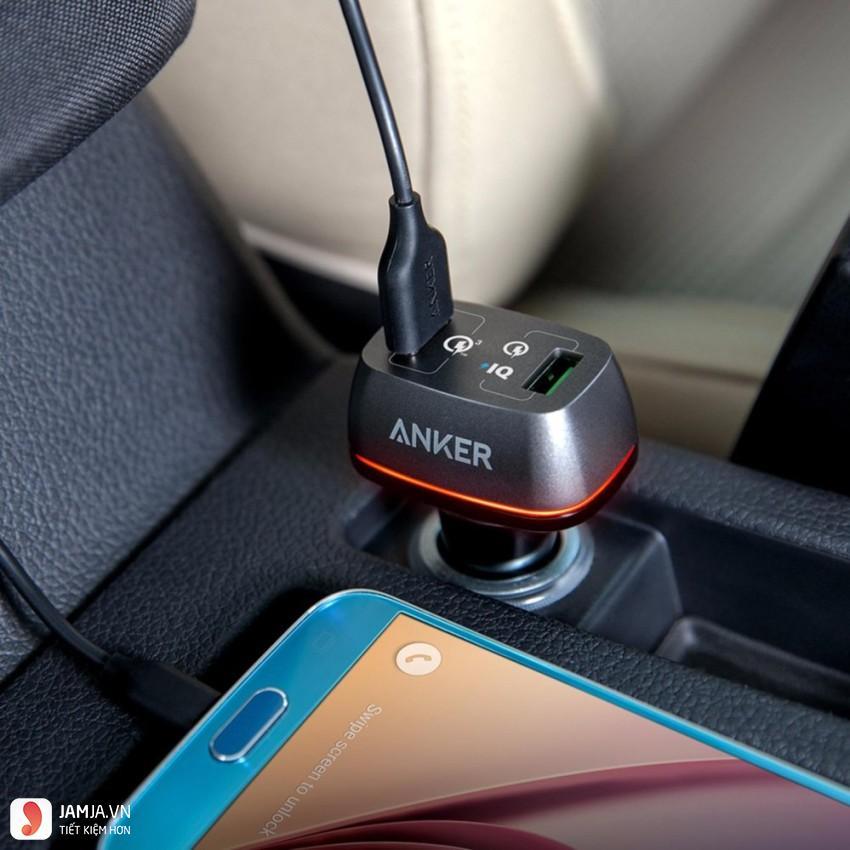 sạc điện thoại trên ôtô anker powerdrive2 ảnh 1