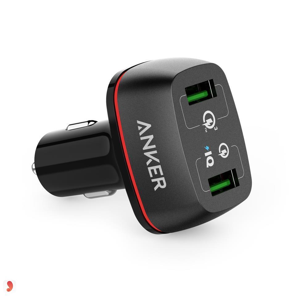 sạc điện thoại trên ôtô anker powerdrive2