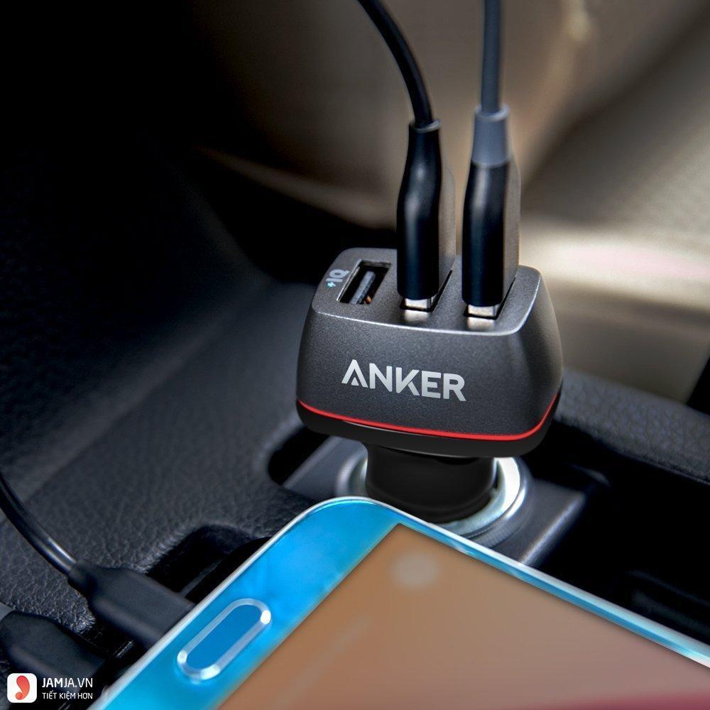 sạc điện thoại trên ô tô Aukey PowerDrive+ ảnh2