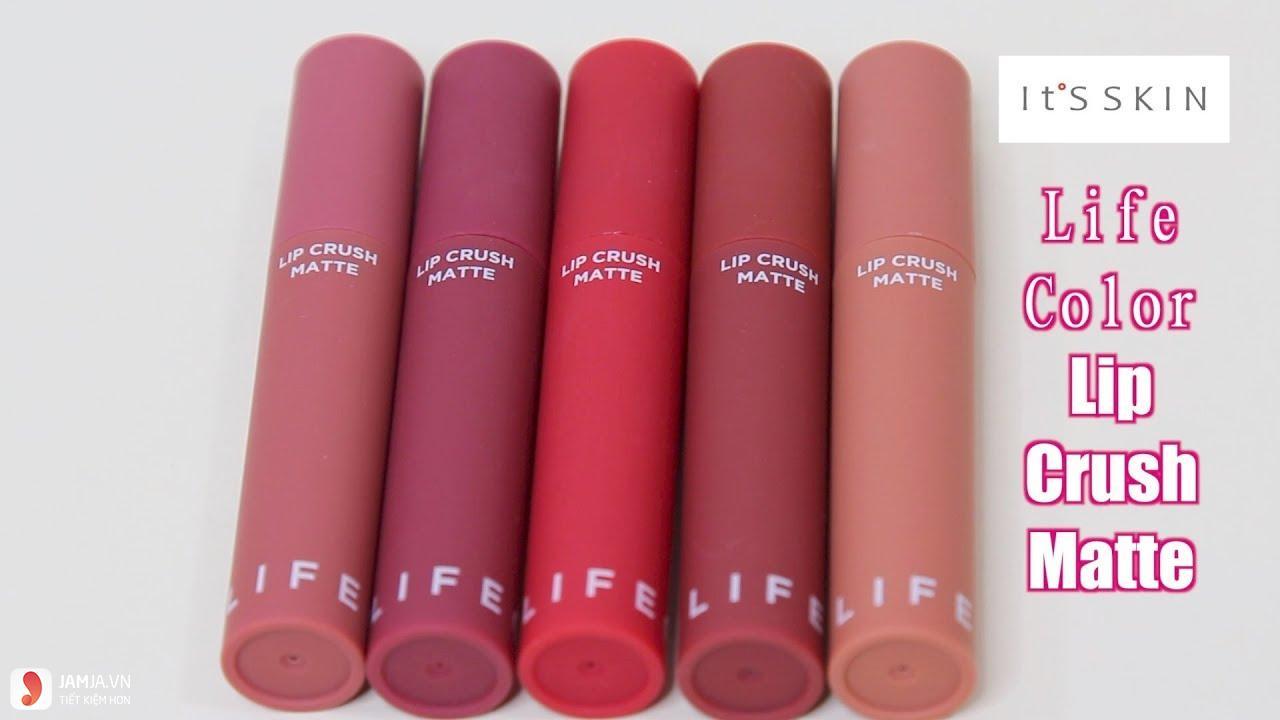 SonIt's Skin Life Color Lip Crush Matte giá bao nhiêu 1