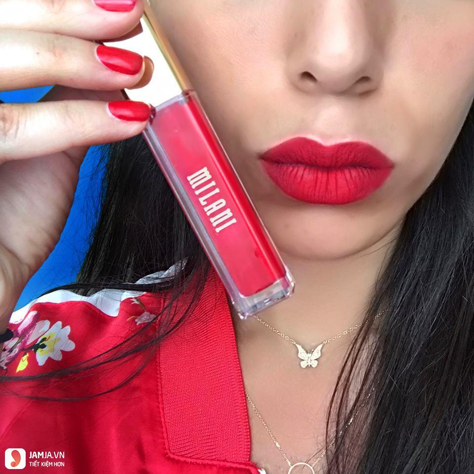 son Milani Amore Matte Lip Cream review chi tiết 3