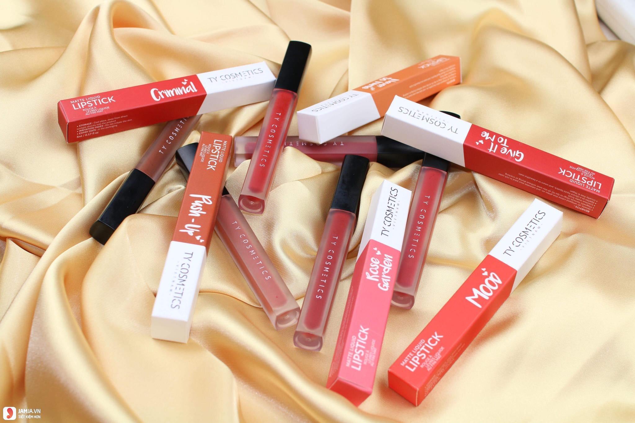 SonTy Cosmetics Matte Lip Cream có chì không