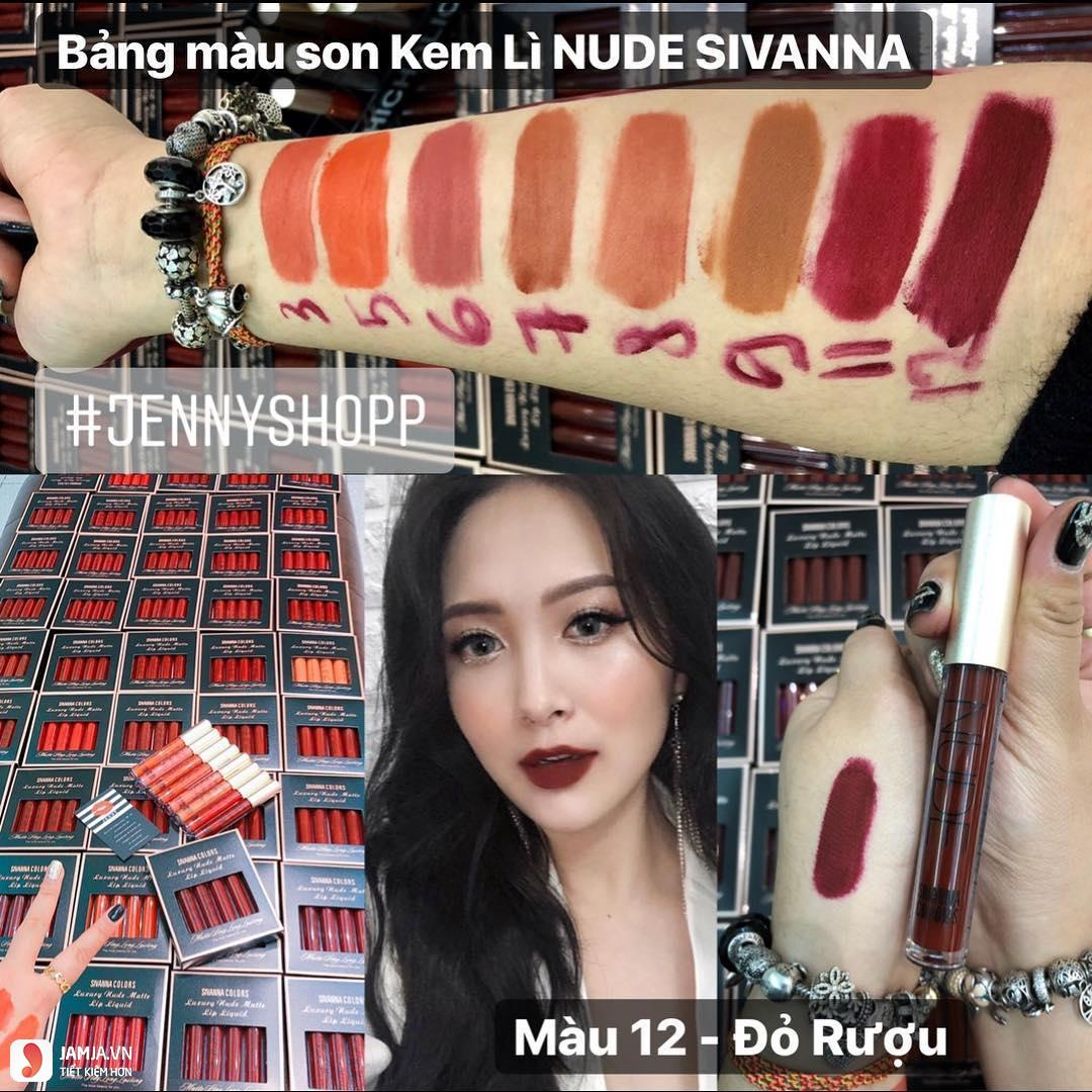 son kem lì Sivanna Colors Luxury Nude Matte Lip Liquid 6
