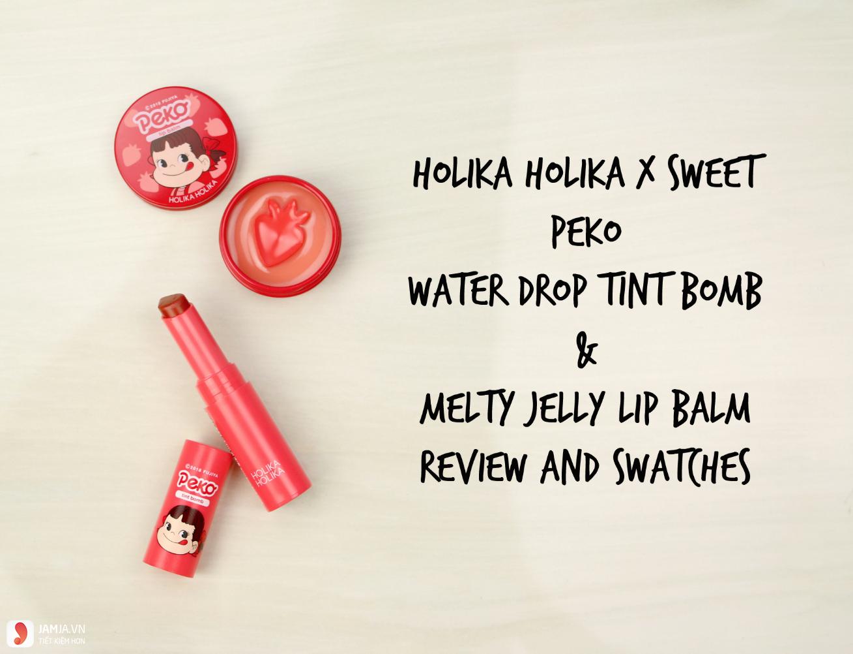 thiết kế Son Holika Holika Water Drop Tint Bomb