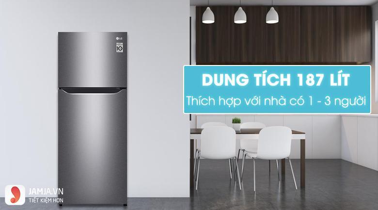 Tủ lạnh 2 cửa Inverter LG GN-L205S
