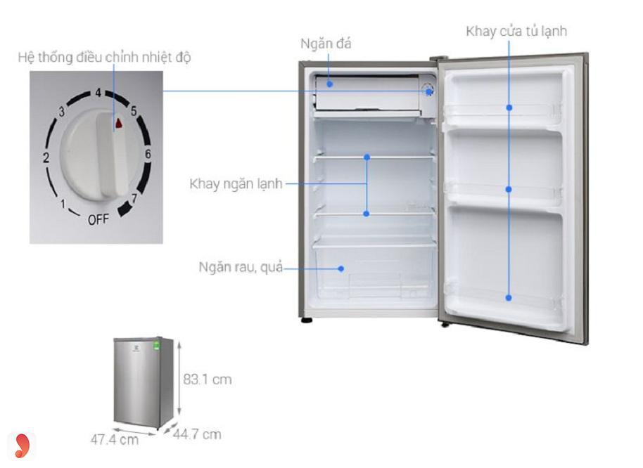 Tủ lạnh Electrolux 92 lít EUM0900SA 1