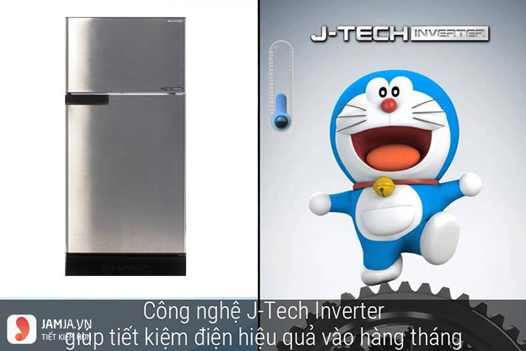Tủ lạnh Inverter Sharp SJ-X176E-SL 2