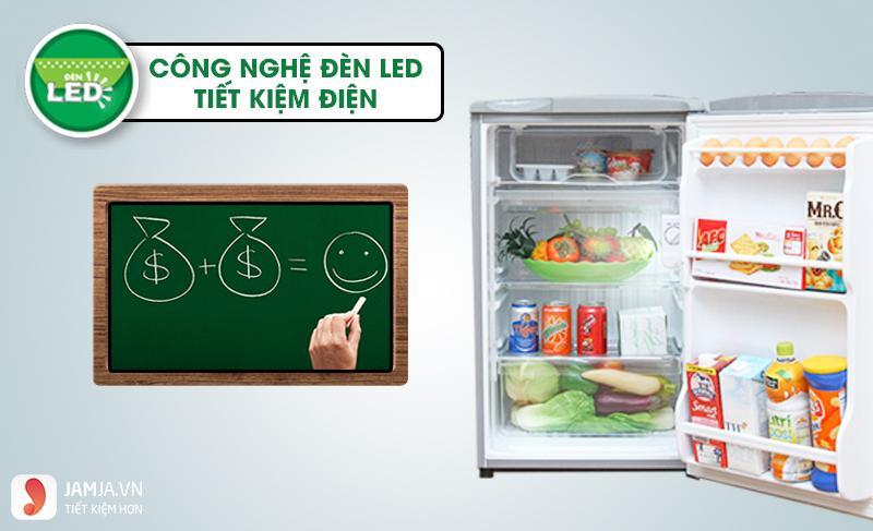 Tủ lạnh Mini AQUA 90 Lít 1 Cửa AQR-95AR 2