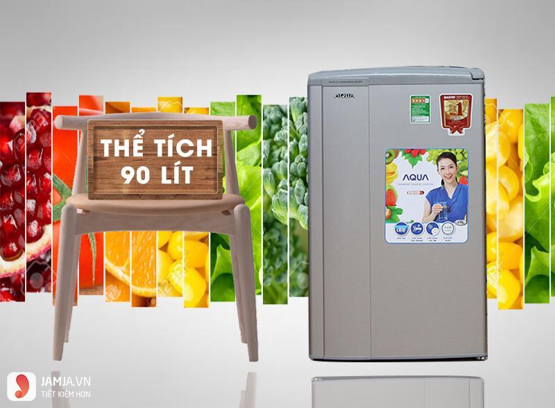 Tủ lạnh Mini AQUA 90 Lít 1 Cửa AQR-95AR