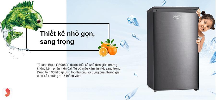 Tủ lạnh Beko 90 lít RS9050P 1