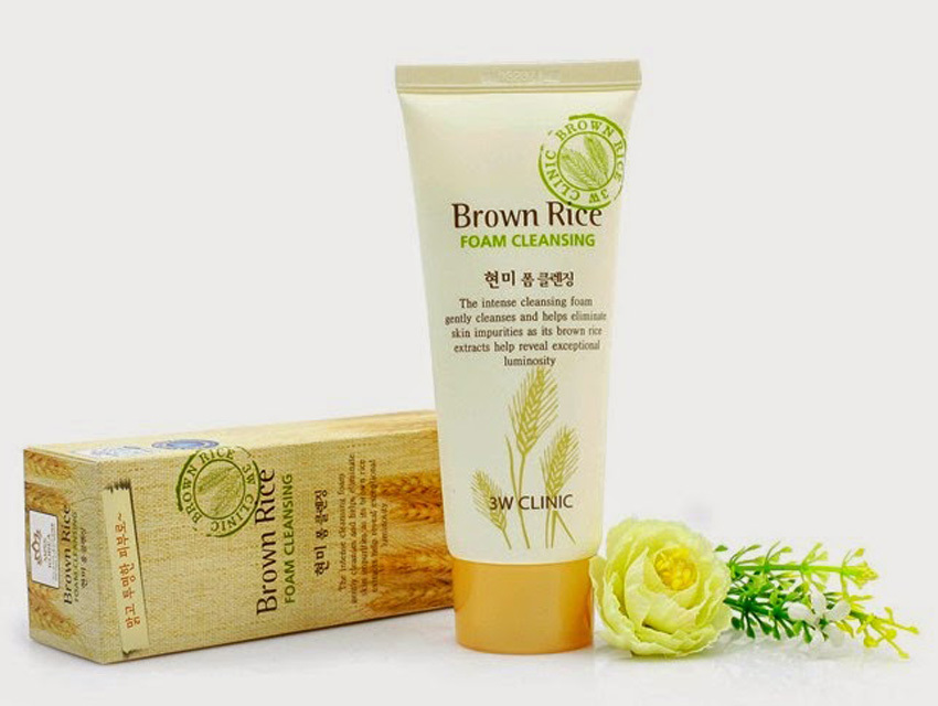 3W Clinic Brown RiceFoam Cleansing 3