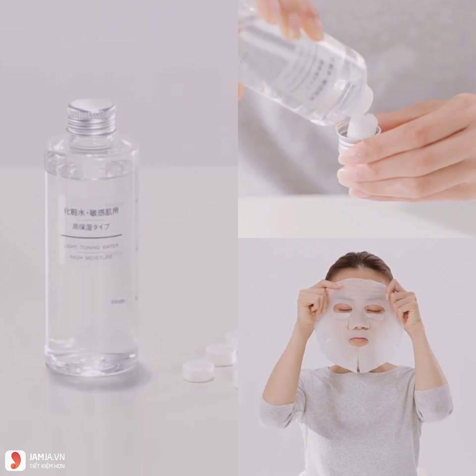 Cách sử dụng mặt nạFace Lotion Sheet Muji 1