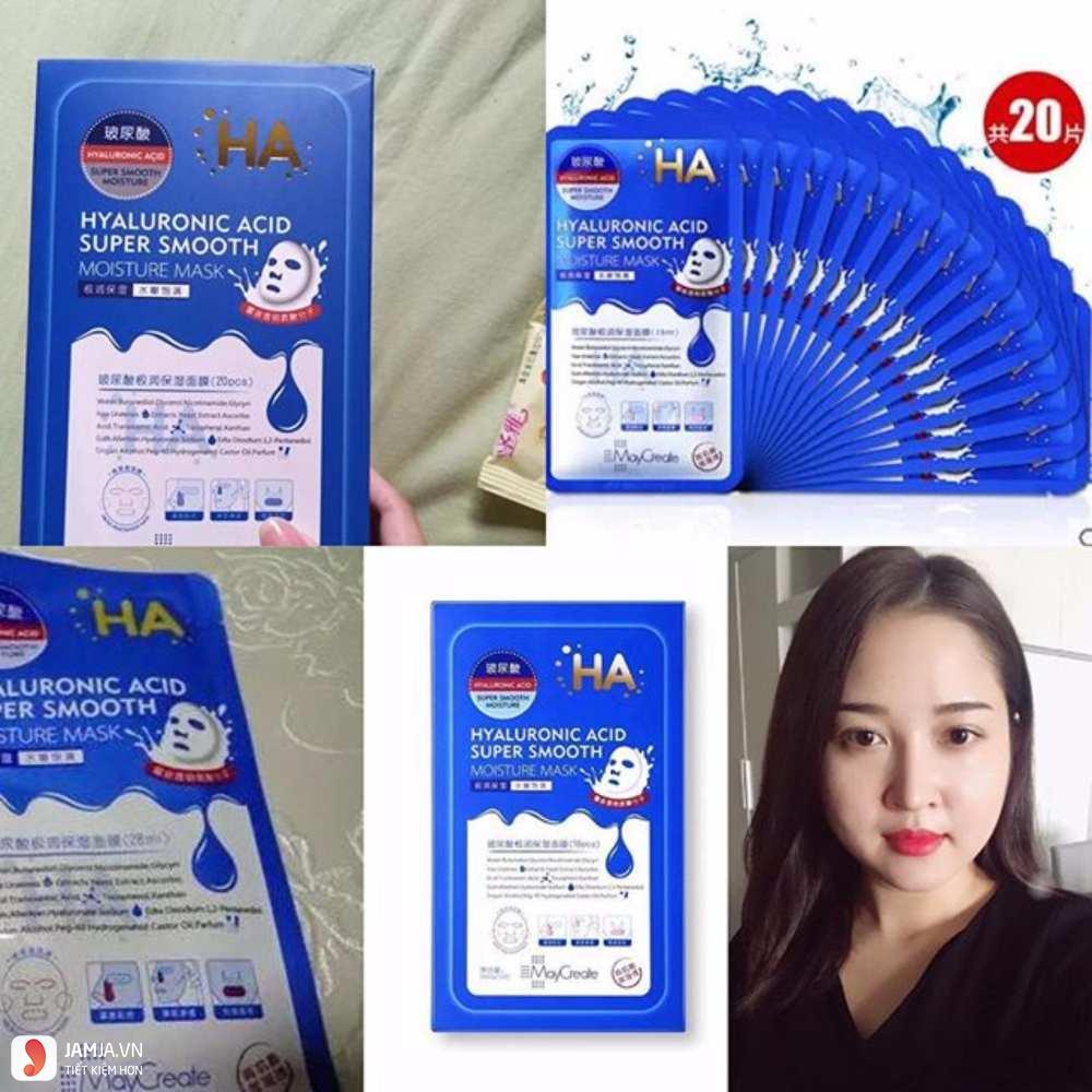 Cách sử dụng mặt nạHyaluronic Acid Super Smooth Moisture Mask 1