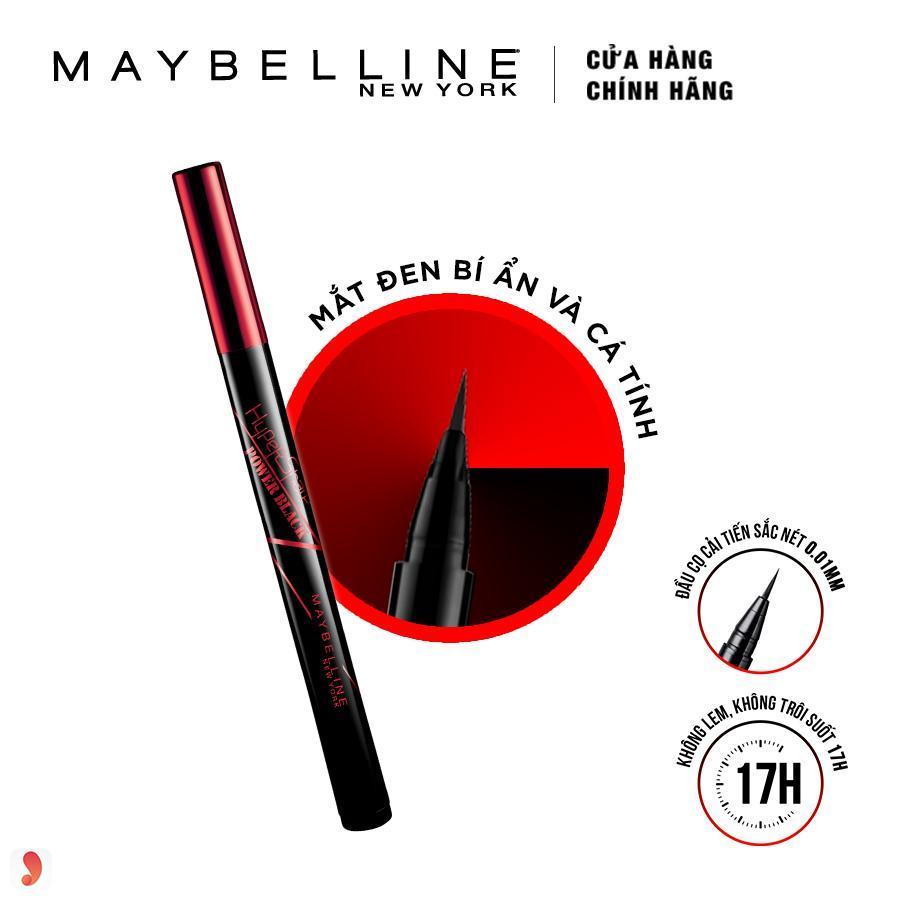 Kẻ mắt nước Maybelline Hypersharp Power Black 2