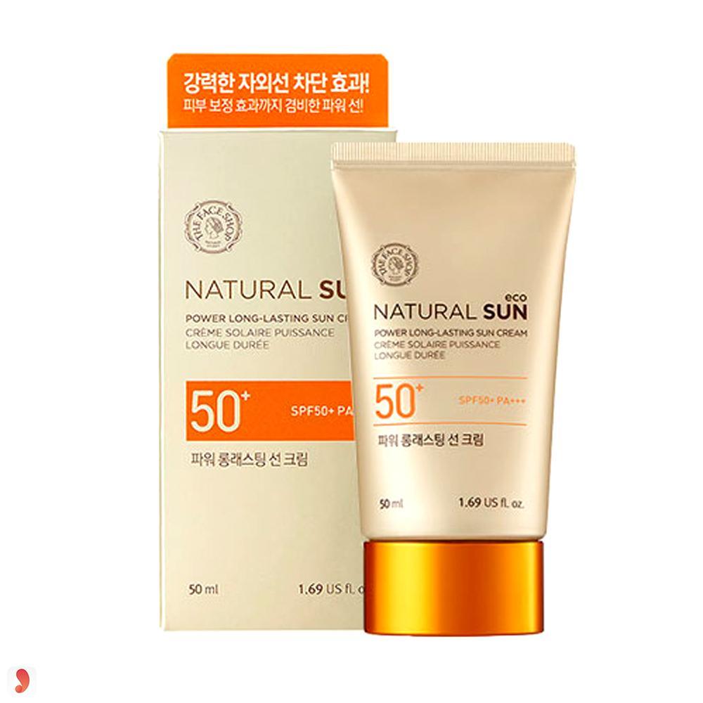 Kem chống nắng The Face Shop Natural Sun Eco Power Long-Lasting Sun Cream SPF50+ PA+++