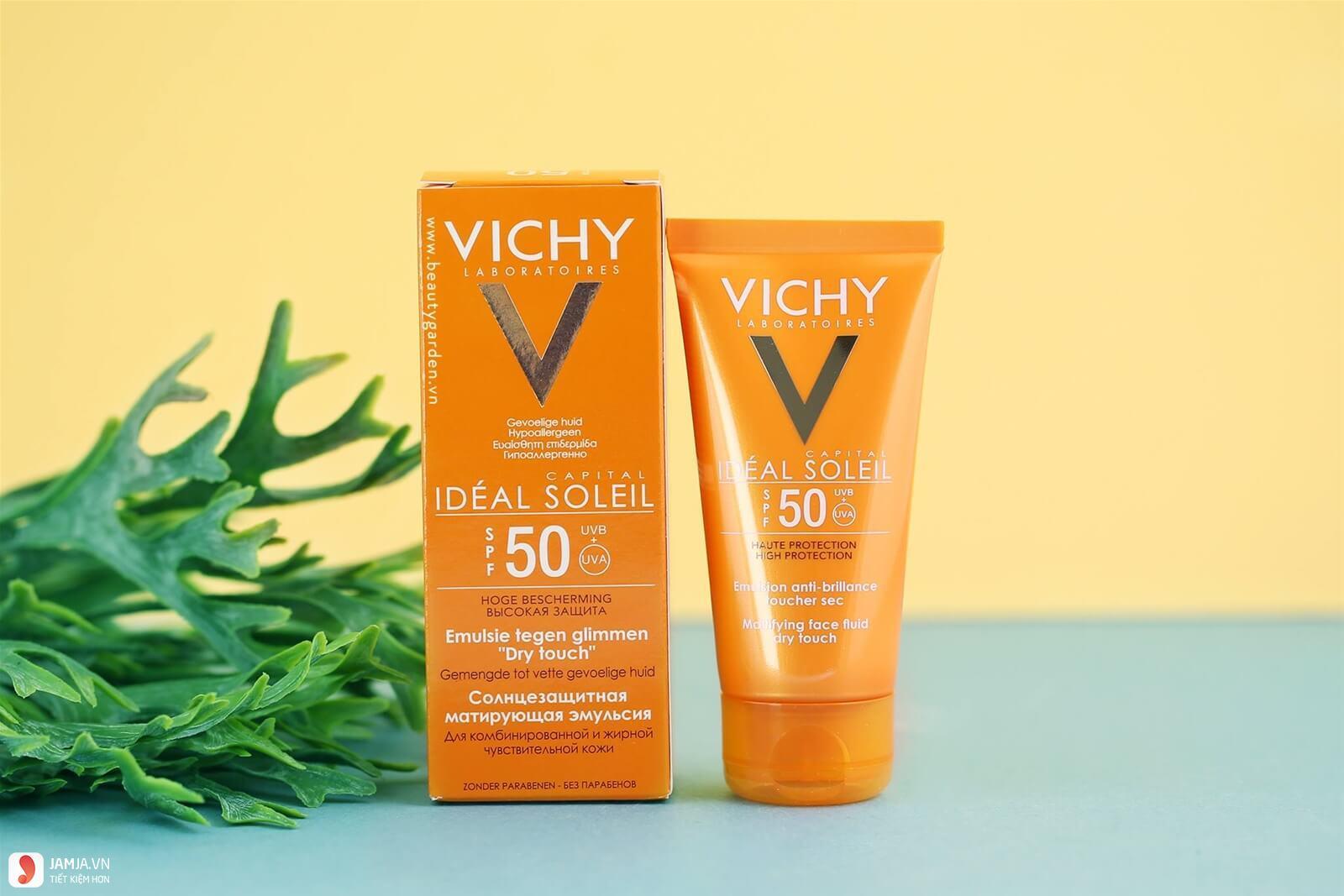 Kem chống nắng Vichy Capital Idéal Soleil Mattifying Dry Touch Face Fluid