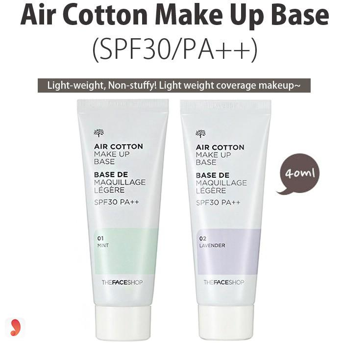 Air Cotton Make Up Base The Face Shop
