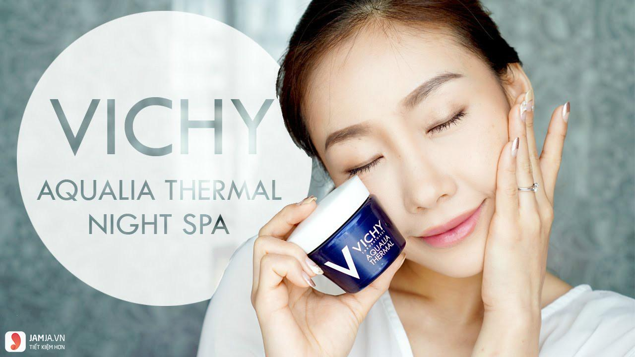 Mặt nạ ngủ Vichy Aqualia Thermal Night Spa review 4