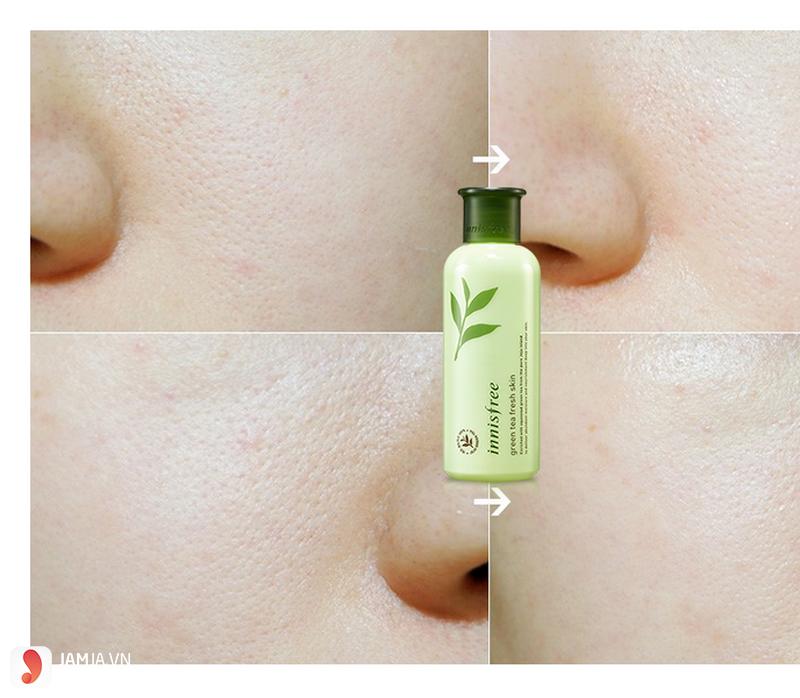 Nhược điểmInnisfree Green Tea Fresh Skin