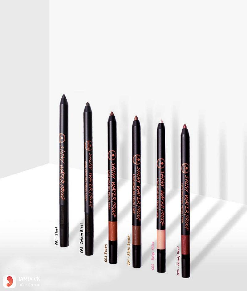Shiny Water Proof Long Wear Gel Pencil Liner 1