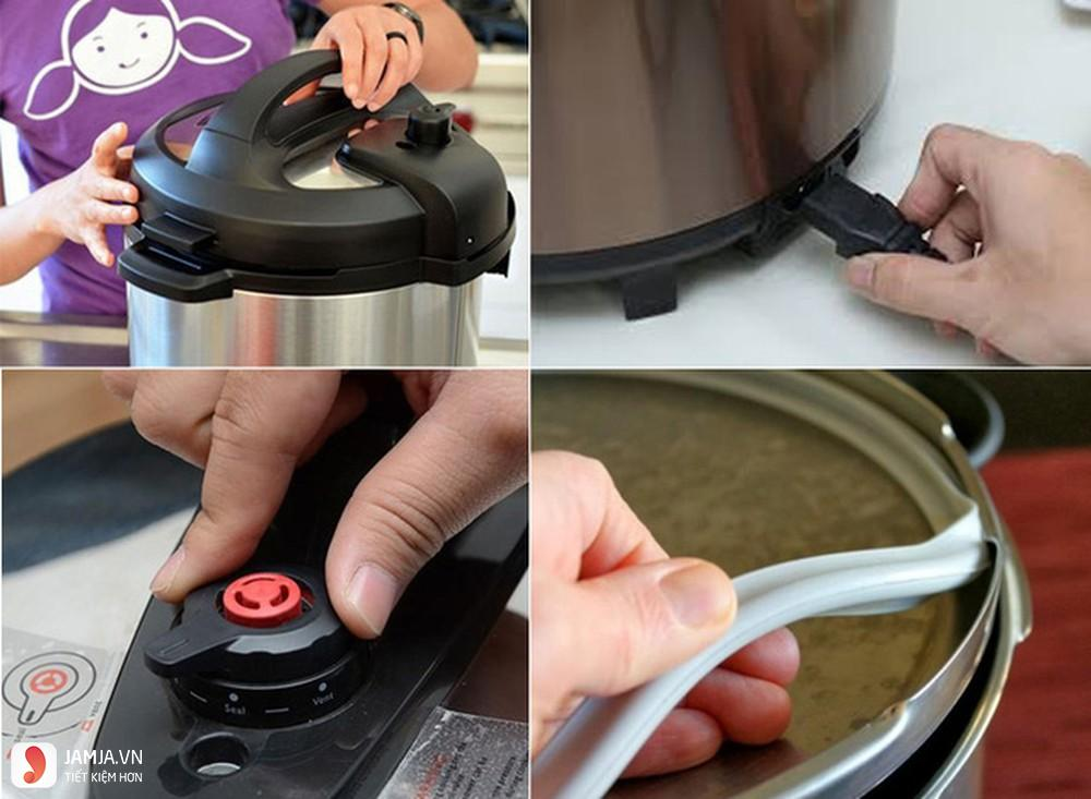 Sử dụng nồi áp suất điện an toàn 4
