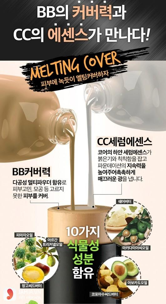 Thành phần của kem nền Karadium Melting Foundation Stick