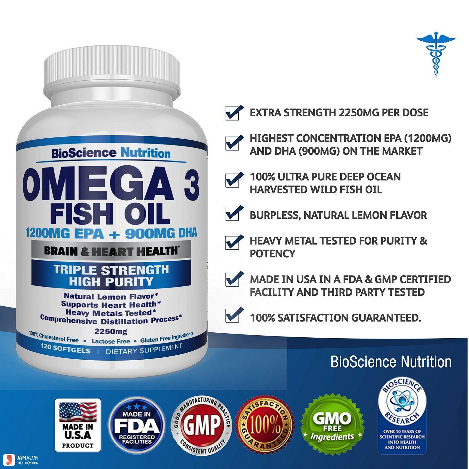 BioScience Nutrition Omega 3 Fish Oil