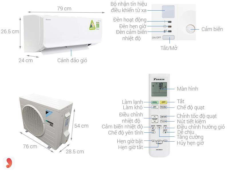 Daikin Inverter ATKC25TVMV 1HP