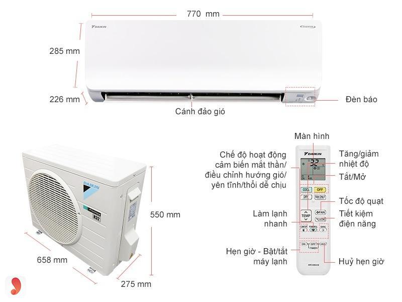Daikin Inverter ATKC35TAVMV 1.5HP
