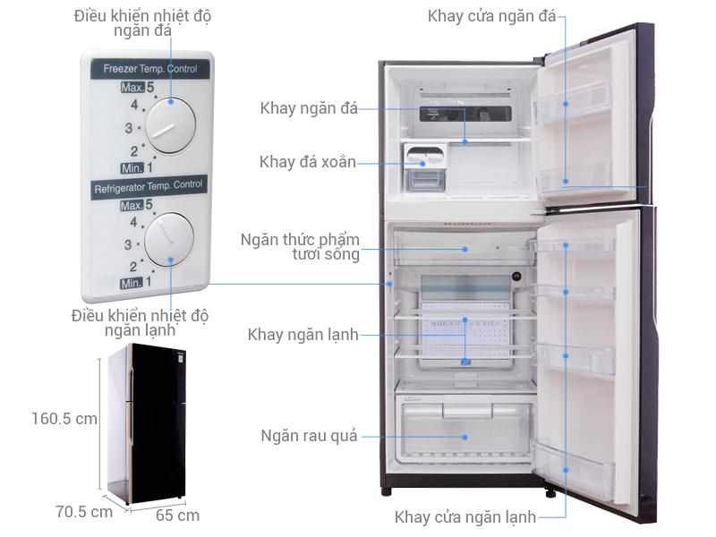 Tủ lạnhHitachi R-VG400PGV3 loại 335 lít
