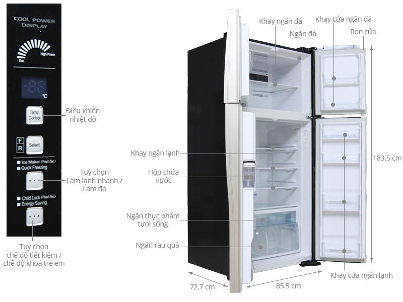 Tủ lạnhHitachi R-W660FPGV3X GBK (540 lít)
