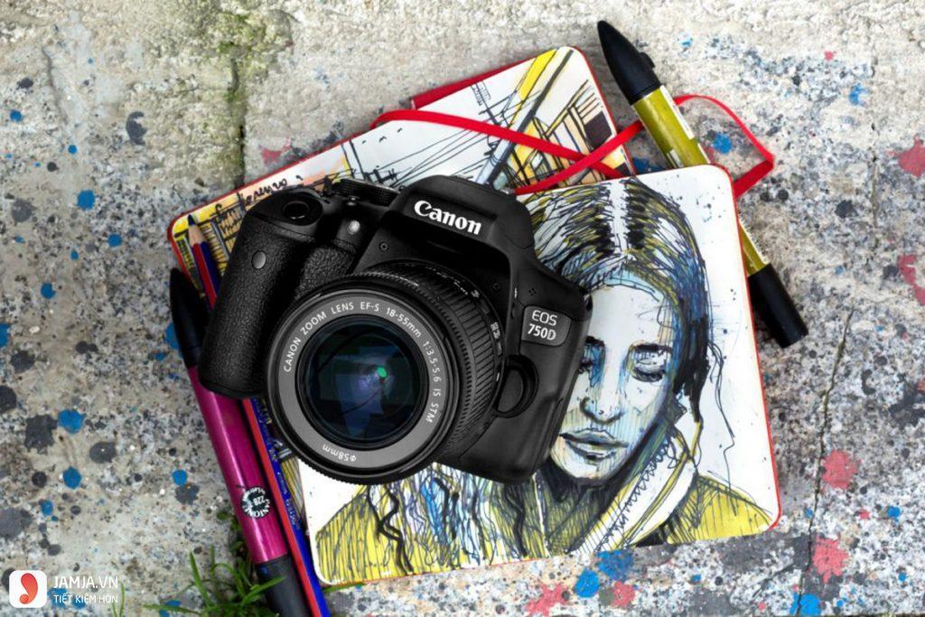 Máy ảnh Canon EOS 750D Lens 18-55 STM