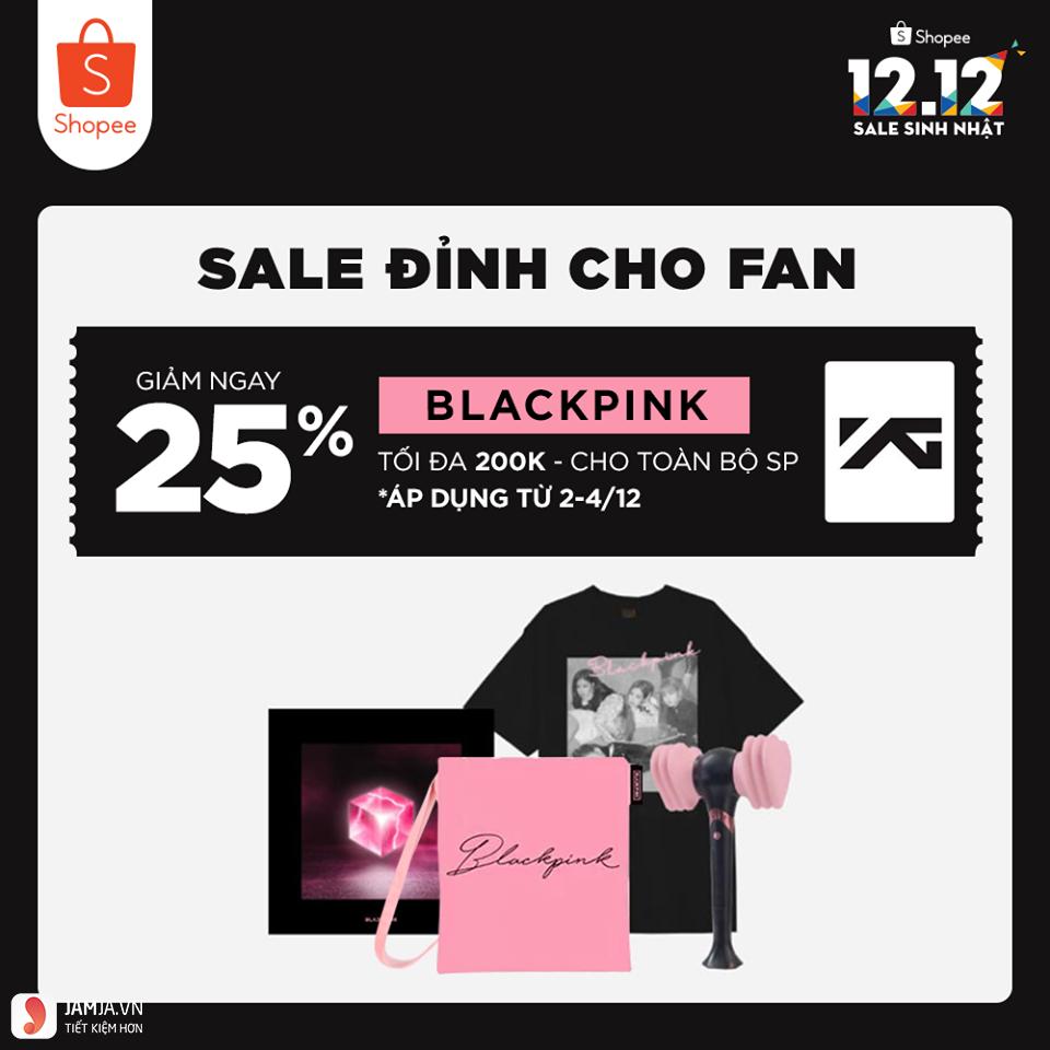 Sale đỉnh cho fan Blackpink