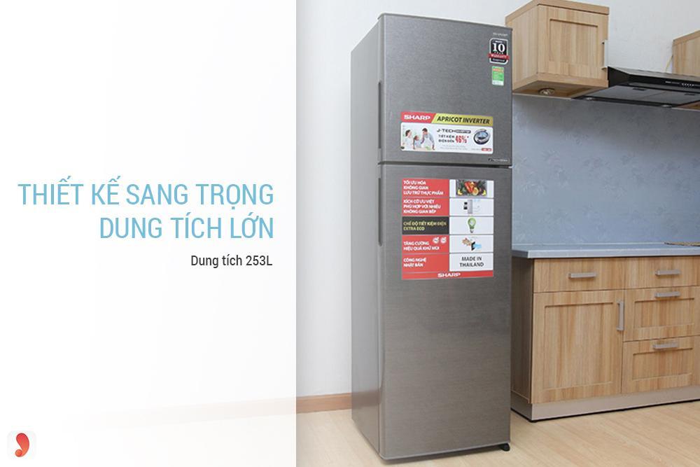 Tủ lạnh Inverter Sharp 253 lít SJ-X281E-DS