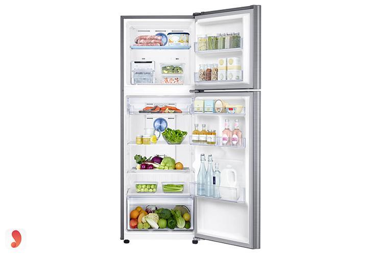 Bên trong tủ lạnh Inverter Samsung 321 lít RT32K5532S8