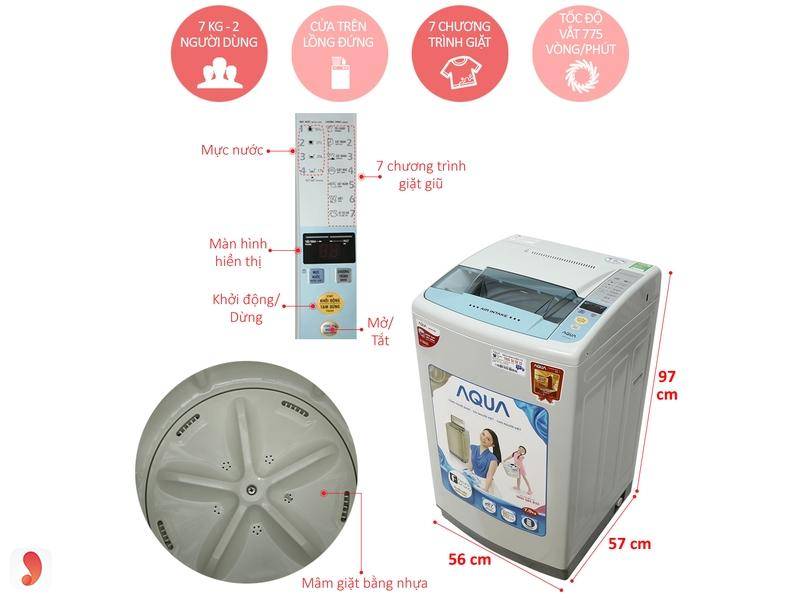Cách dùng máy giặt Aqua 2