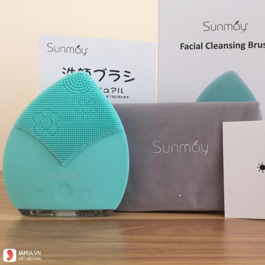 cách dùng máy rửa mặt Sunmay 2