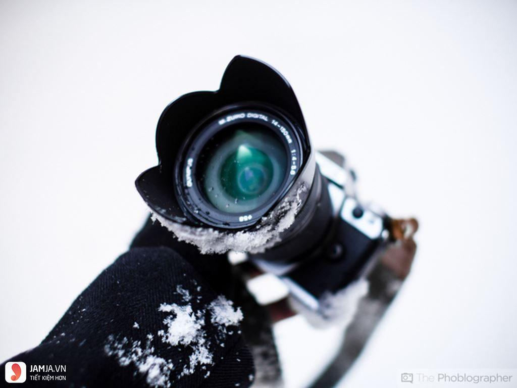 Chụp ảnh dưới tuyết