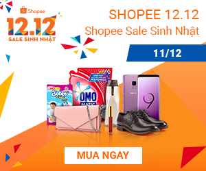 Shopee sale sinh nhật 11.12