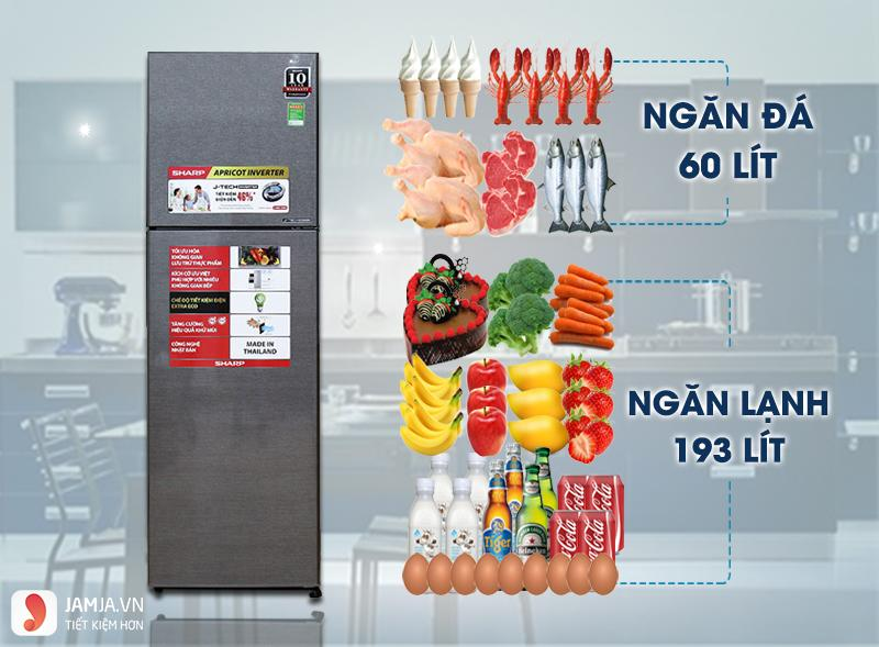 Tủ lạnh Inverter Sharp SJ-X281E-DS