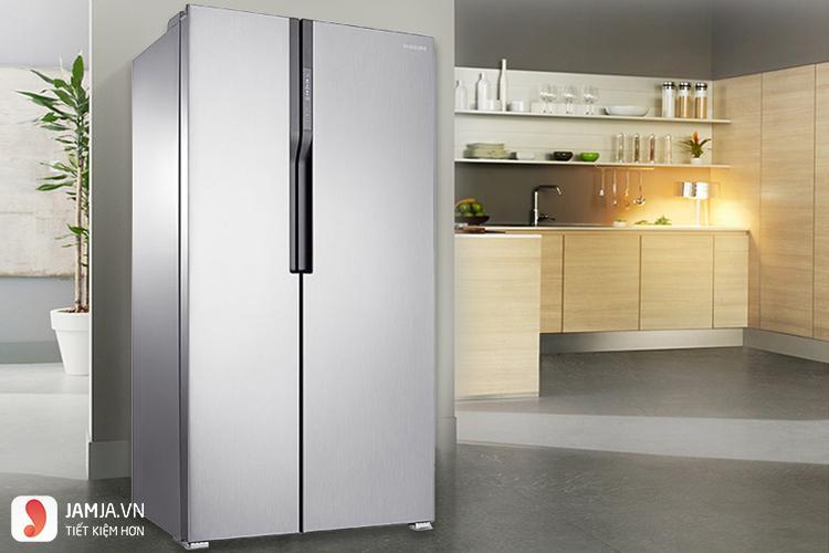 Tủ lạnh side by side SamsungRS552NRUASL/SV