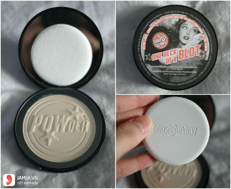 Phấn phủ Soap and Glory One Heck Of A Blot Powder2